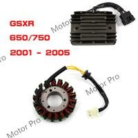 For Suzuki GSXR 600 750 2001 2005 Engine Stator Coil and Voltage Regulator Kits Motorcycle Accessories Rectifier 2002 2003 04