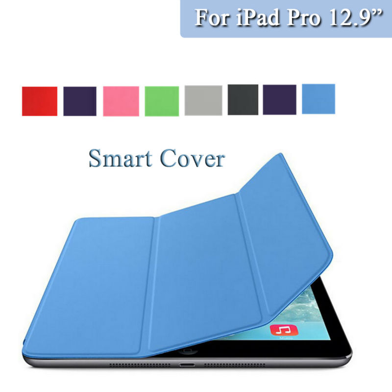 Redlai Top PU Leather Fundas Coque Stand Smart Case + PC Back Cover Case For Apple iPad Pro 12.9 inch A1584 A1625 Old 2015 redlai colors crystal clear laptop case