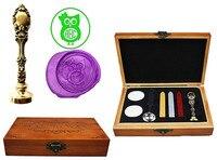 Owl Vintage Custom Luxury Wax Seal Sealing Stamp Brass Peacock Metal Handle Sticks Melting Spoon Wood