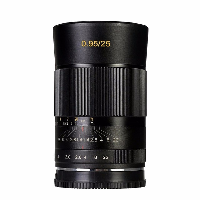 Meike MK-E-25-0.95 25mm f/0.95 Super Large Aperture Manual Focus lens APS-C For Sony E mount Mirrorless Cameras a6000 a6300