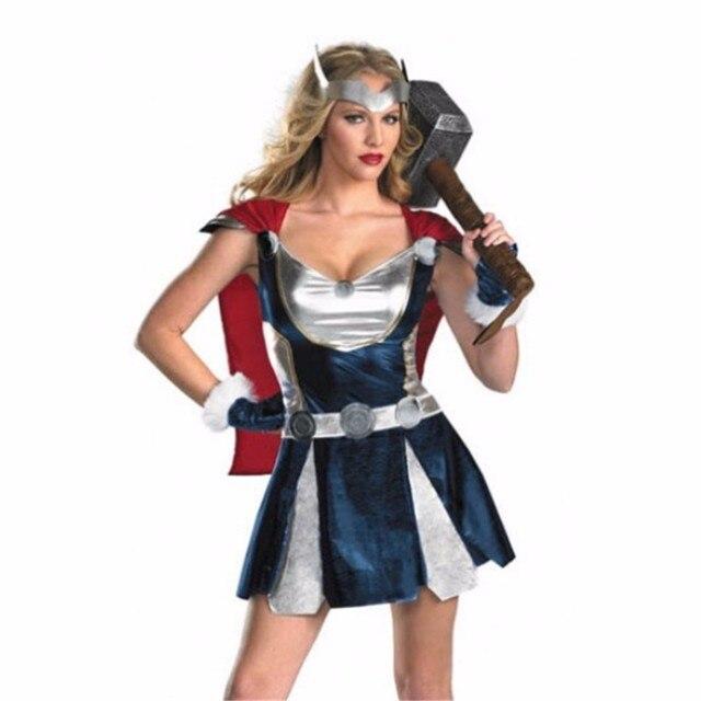 2018 nuevo Raytheon Thor Ragnarok Cosplay ropa Mujer Maravilla disfraz  halloween mujer Guerrero señoras gladiador vestido 08e6f8d368c9