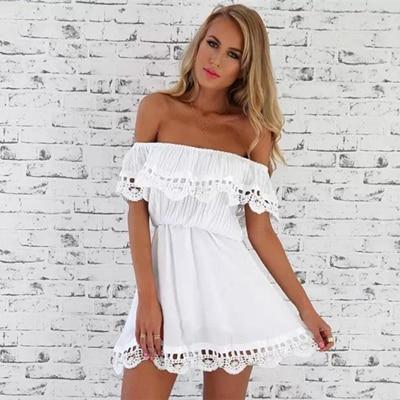 9b9542c302a7 Womens White Dress Vestido Encaje 2015 Vestidos Para Playa Mujer 0 ...