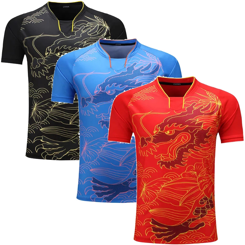 mens/women table tennis clothing badminton shirt table tennis shirt Short Sleeve sport badminton clothes ping pong Uniforms suit(China)