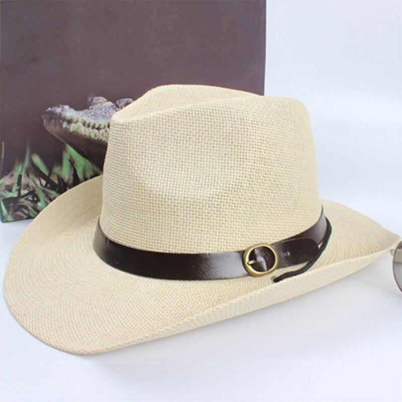 Летняя модная новая Кепка унисекс для женщин и мужчин, ковбойская шляпа трилби с широкими полями, соломенная шляпа с защитой от воздействия УФ излучения, кепка большого размера Универсальные ковбойские шляпы      АлиЭкспресс