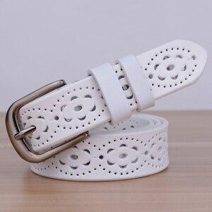 Image 3 - Hot البيع عالية الجودة الفاخرة النساء حزام جلد طبيعي الإناث حزام الخصر دبوس مشبك الأحزمة للنساء سيدة waistband