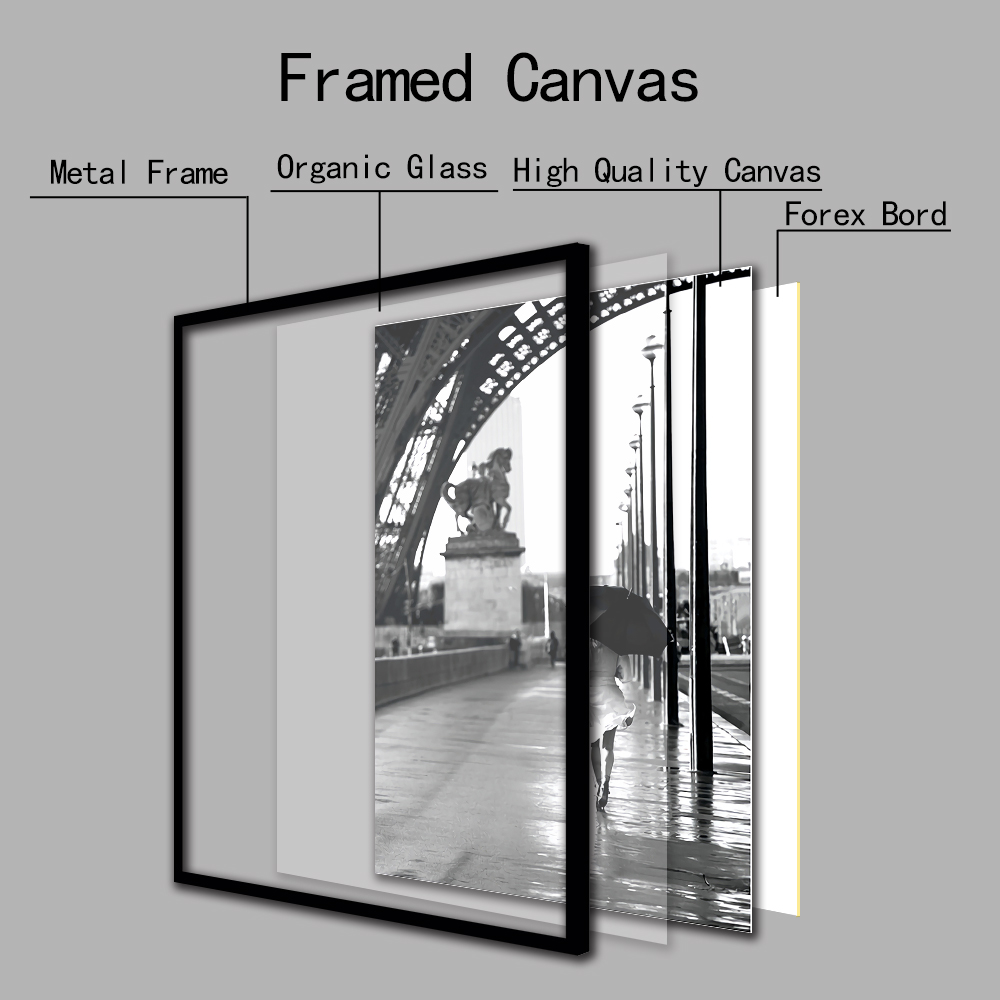 Cuadros Salon Black And White Girls Wall Art Prints And Posters On Rain Canvas Paintings Pictures For Living Room Home Decor Buy At The Price Of 3 60 In Aliexpress Com Imall Com