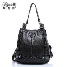 2016 HAUTE Qualité femmes sacs à dos en cuir de mode dames sac à dos célèbre marque designer zipper sacs poche voyage sac d'école