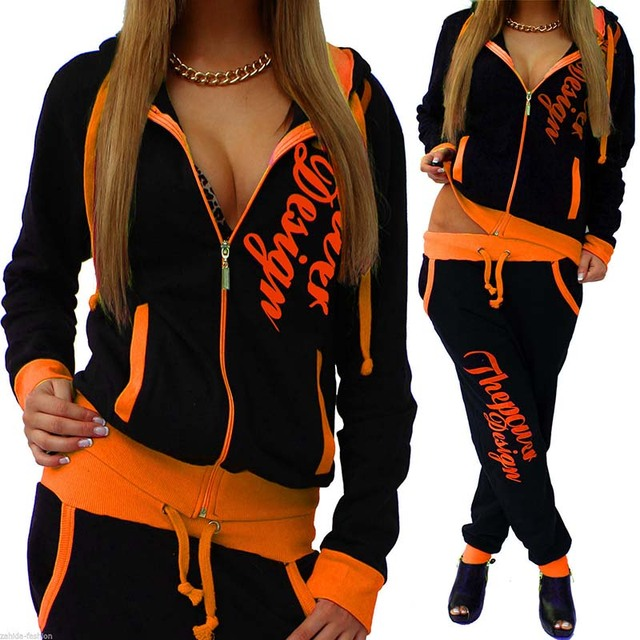 2018 New Autumn Casual Sportswear Long Sleeve Zipper Two Piece Set Fitness Sport Suit Running Suit Yoga Set Gym Clothing