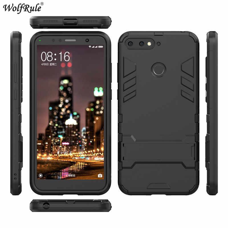 Para Casos Huawei Honra Equipada 7A Pro Caso TPU & PC Titular Bumper Caixas Caixa Do Telefone Para Huawei Honra 7A capa Desfrutar 8e 5.7''