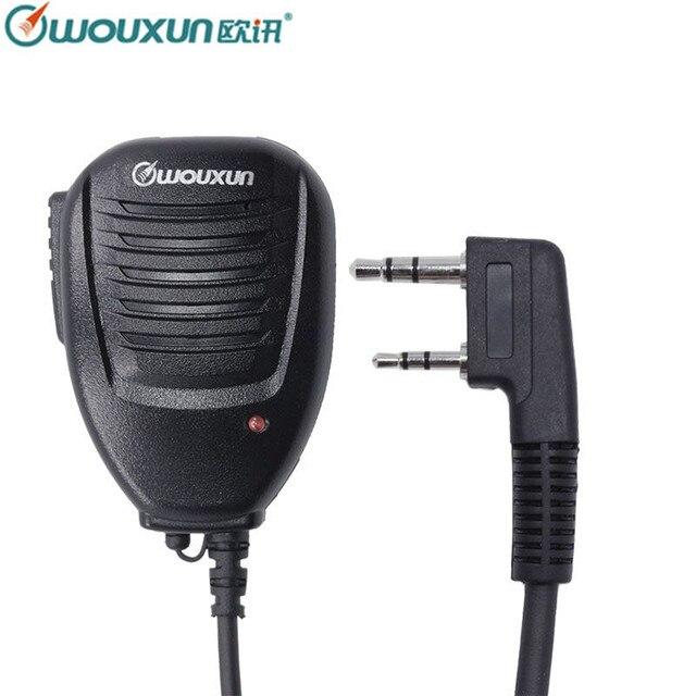 Alta Qualidade Original Wouxun Speaker Microfone para Wouxun SMO 002 KG UVD1P KG UV6D KG UV8D KG UV9D Plus Walkie Talkie