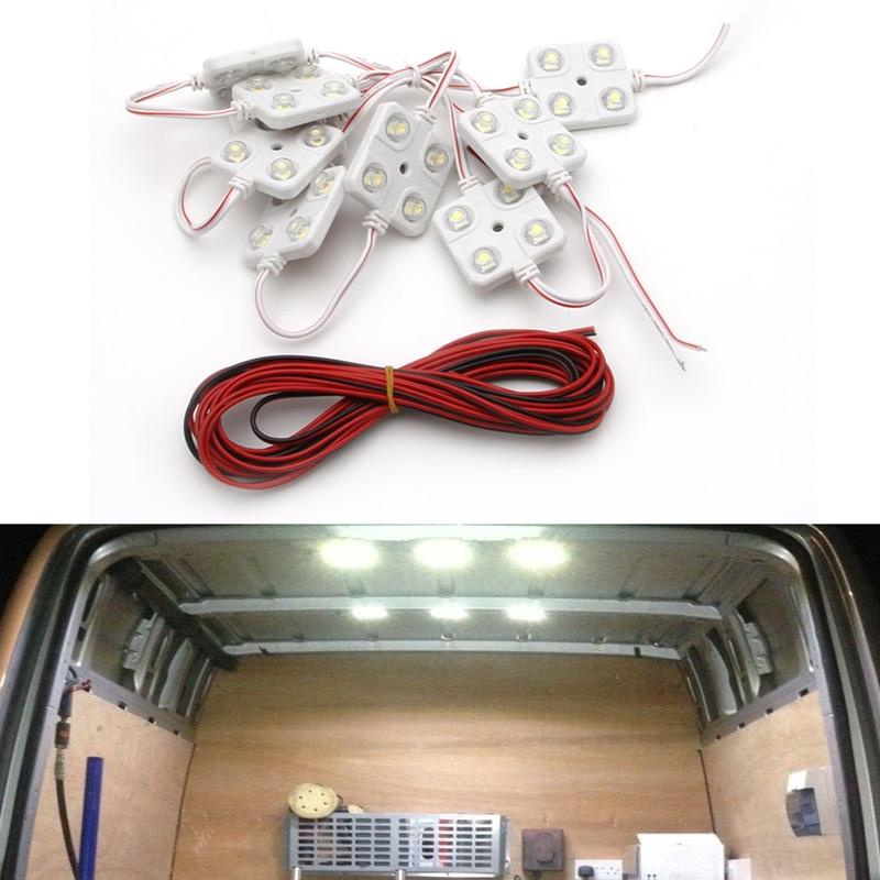 40 Led 5050 Waterproof Truck/cargo White Bed Lighting Light Kit For Dc 12v Van Long Performance Life Truck Parts Atv,rv,boat & Other Vehicle