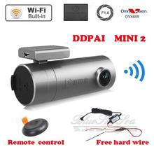 Free shipping Mini 2 1440P HD WIFI Car Dash cam DVR 140 Degree for Iphone Android