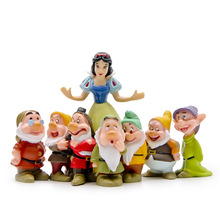 8Pcs/ Snow White And 7 Dwarfs/ Home decoration/ Garden gnome/ children gifts/ bonsai