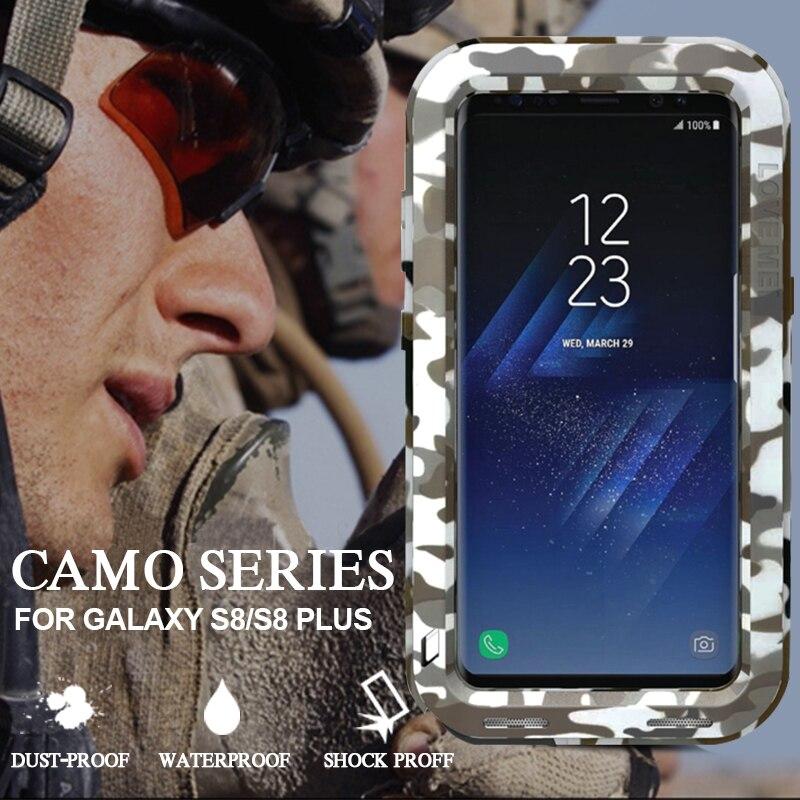 imágenes para Para El caso de Samsung Galaxy S8/S8 Más Impermeable A Prueba de Golpes militar Camo Cubierta Protectora para Samsung S8 Más Caso de Coque Fundas