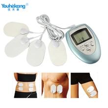 Youhekang 4 قطعة منصات الجسم مدلك الكهربائية نبض الرقبة مدلك للتدليك التخسيس العضلات الاسترخاء متعددة الوظائف تدليك