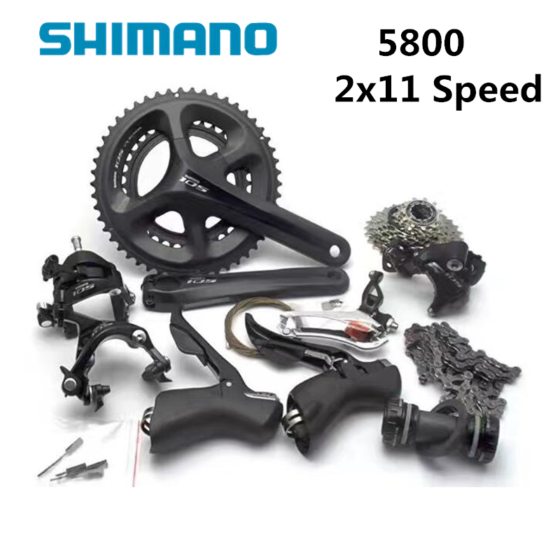 Shimano 105 5800 11 Speed Groupset 2*11 22 Speed road bike bicycle groupset Bicycle Parts high precision co gas analyzer handheld co concentration carbon monoxide meter tester lcd gas detector monitor 0 999 ppm