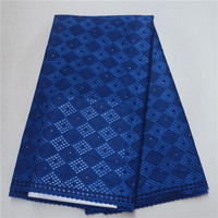 African Embroidered Cotton Lace High Quality Swiss Voile Nigerian Lace Fabric Lace