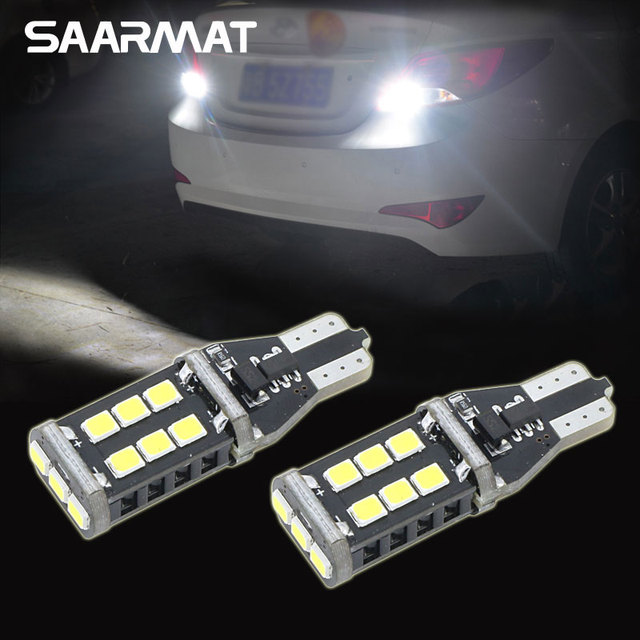 Pair LED T15 W16W 15 SMD CANBUS Backup Reverse Light For Hyundai Genesis  Coupe Sonata