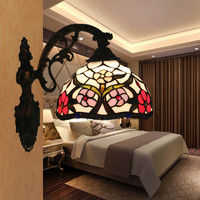 Glass Shade Vintage LED Wall Lamp Baroque European Living Room Bedroom Wall Sconce Lights Applique Murale Luminaire|LED Indoor Wall Lamps| |  -