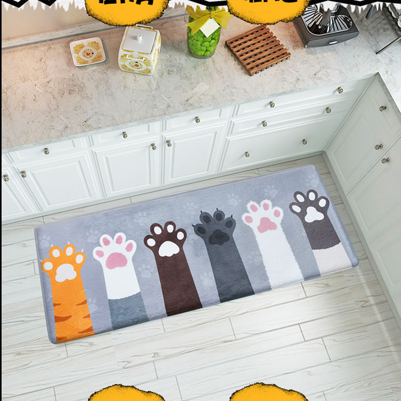 4 Sizes Cute Cat Claw Printed Mat Doormats Bathroom Carpets Floor Mats Bedroom Rugs Kitchen Rug