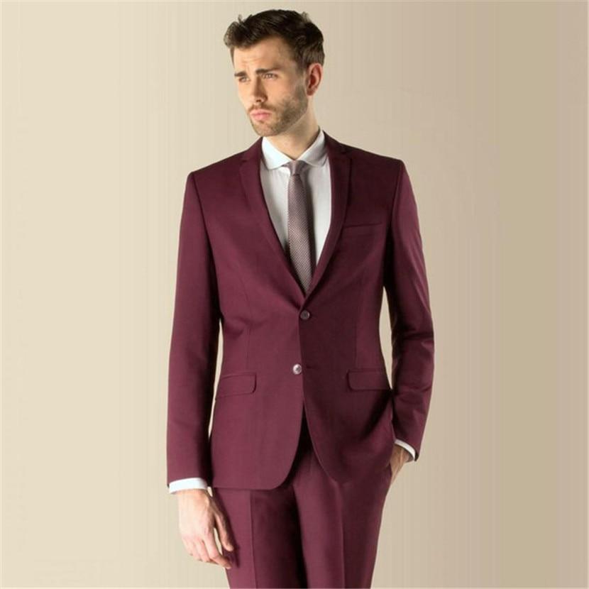 Mens Formelle Marque Smokings Pantalon Costumes Cravate 2019 Marié veste Bourgogne Vente De Mariage Meilleur wvx7Eqt0
