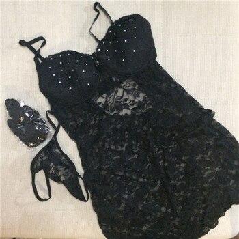 Sexy lencería con cristales para mujer talla L/XL Lencería erótica er tica couro
