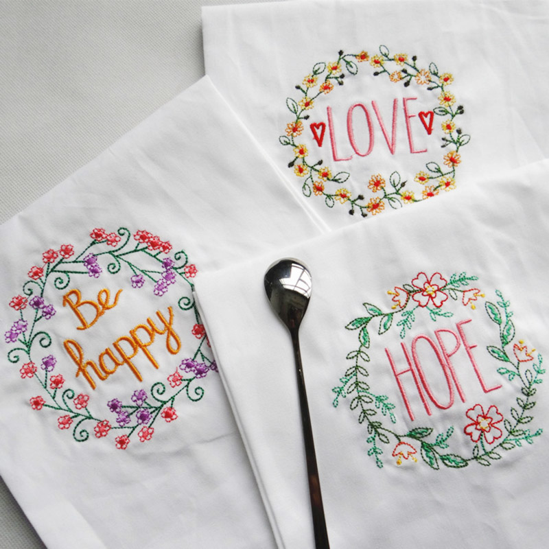Honest 10pcs/lot Cotton Dishtowel Kitchen Towel Dish Towel Cleaning Cloth Tea Towel Embroidered 45x70cm Wedding Table Napkin Placemat Home & Garden Home Textile