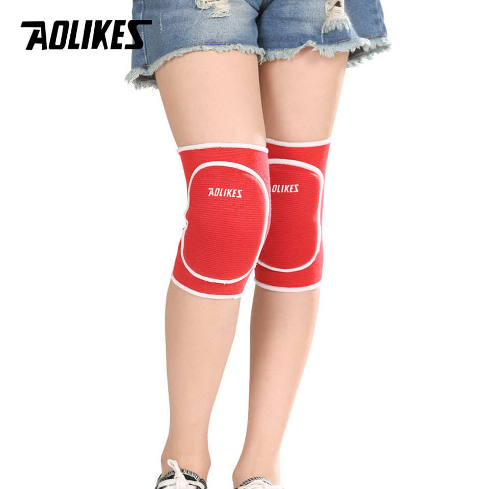AOLIKES 1 Pair Kids Sponge Knee Support Dance Volleyball Tennis Knee Pads Sport Gym Kneepads Children Knee Protection