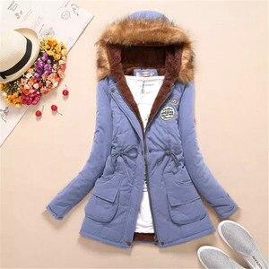 Image 4 - Женское пальто из искусственного меха, с длинным рукавом и капюшоном, на молнии