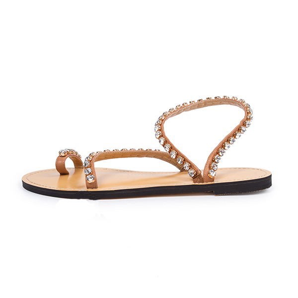 ФОТО 2017 most popular flat women sandals suit to any casual occasion comfortable and perfect rhinestone decoration  pin color
