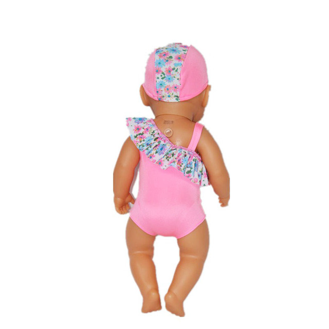 74a8f42be5b New Arrival 43cm Baby Born Zapf Doll Clothes Doll Bathing Suit With Hat  Rash Guards Doll Accessories Children Best Gift ZD173