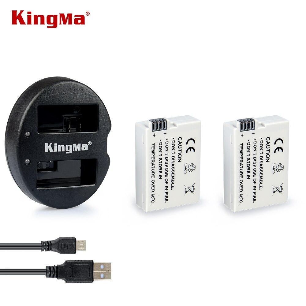KingMa Original LP-E8 batterie Li-ion Ultra haute capacité pour Canon T2i et T3i (pour remplacement Canon LP-E8) + Double chargeur