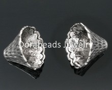 DoreenBeads 50 Silver Tone Cone Caps Findings Fit 12mm-22mm Beads (B05553), yiwu