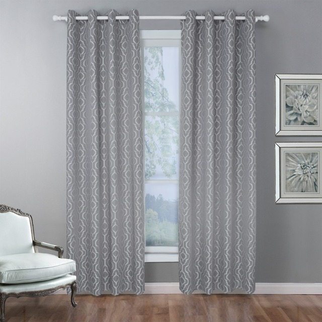 Blackout Curtains For Living Room Curtain Window Fabric Treatments Gray Bedroom Blinds Luxury Cortinas