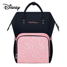 Disney Pink Minnie Mummy Bag Baby Care Nappy Backpack Large Capacity Mom Multifunction Outdoor Travel Diaper Bags