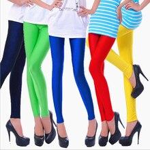 Shiny Leggings Women Skinny spandex Polyester Leggings Neon Spandex Leggings Ladies Stretch Dancing Fitness Leggings