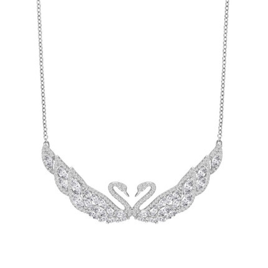 2018 SWA Two Swans Necklaces Official 1:1 Has the Logo. Elegant Ladies JEWELRY Free Package Mail