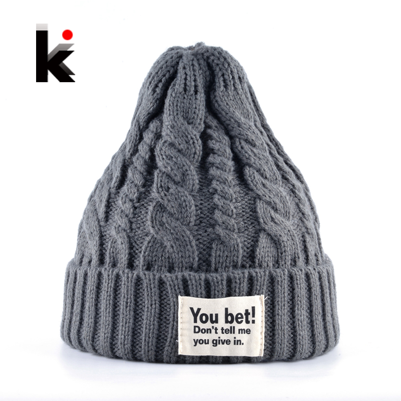 Knitted Skullies Beanies Caps Men and Women Autumn Winter Knitting Wool Bonnets Hat For Men Casual Unisex Gorros Touca Inverno skullies