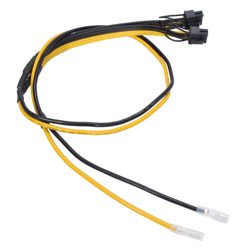 5pcs 6+2pin PCI-E Power Cable 12AWG+18AWG For Mining Graphics Card Board Adapter New Express Cable Power Splitter For BTC 2pcs lot dual pci e pcie graphics video card 8pin 6 2pin splitter power cable cord with terminal for rig miner 12awg 16awg