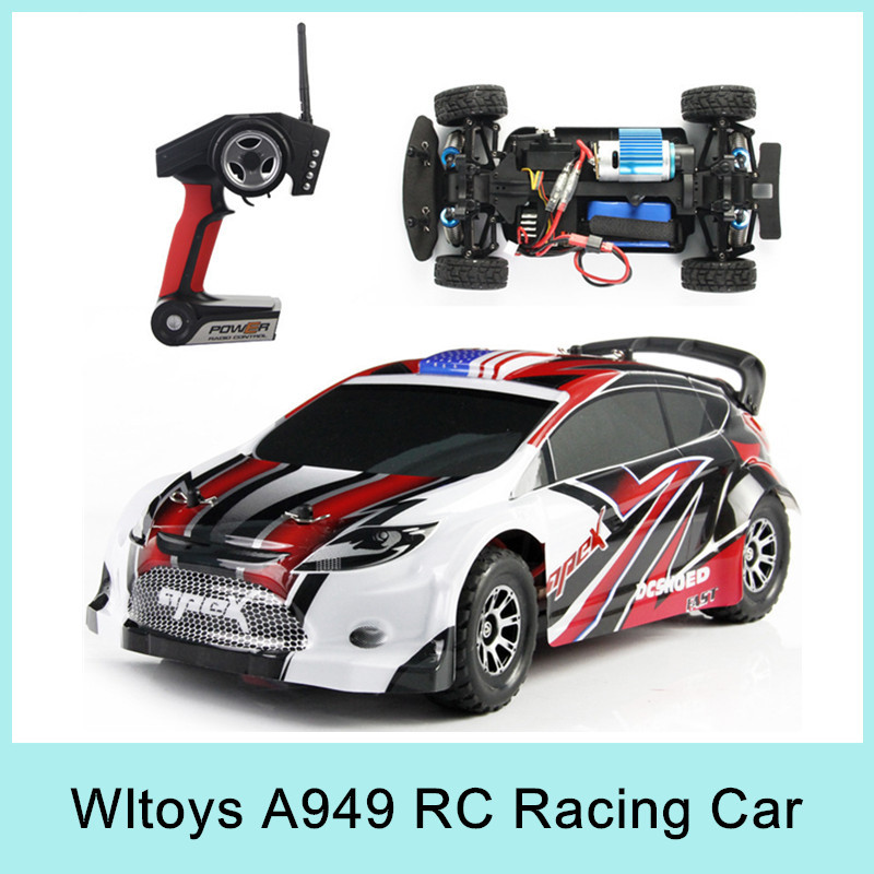 Free Shipping NEW A949 RC Racing Car 4WD 2.4GHz Drift Toy Remote Control Car 1:18 50km/h Electronic Car VS L202 large rc car 1 10 high speed racing car for nissan gtr championship 2 4g 4wd radio control sport drift racing electronic toy