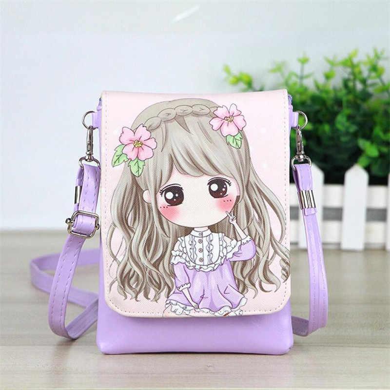 51e189b467d1 1 шт. романтические розовые девушка висит рюкзак брелок мини-косметичка  кожаный брелок Детский кошелек