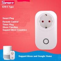 Sonoff S20 E Type Itead WIFI Wireless Remote Control Socket Smart Timer Plug Power Socket EU