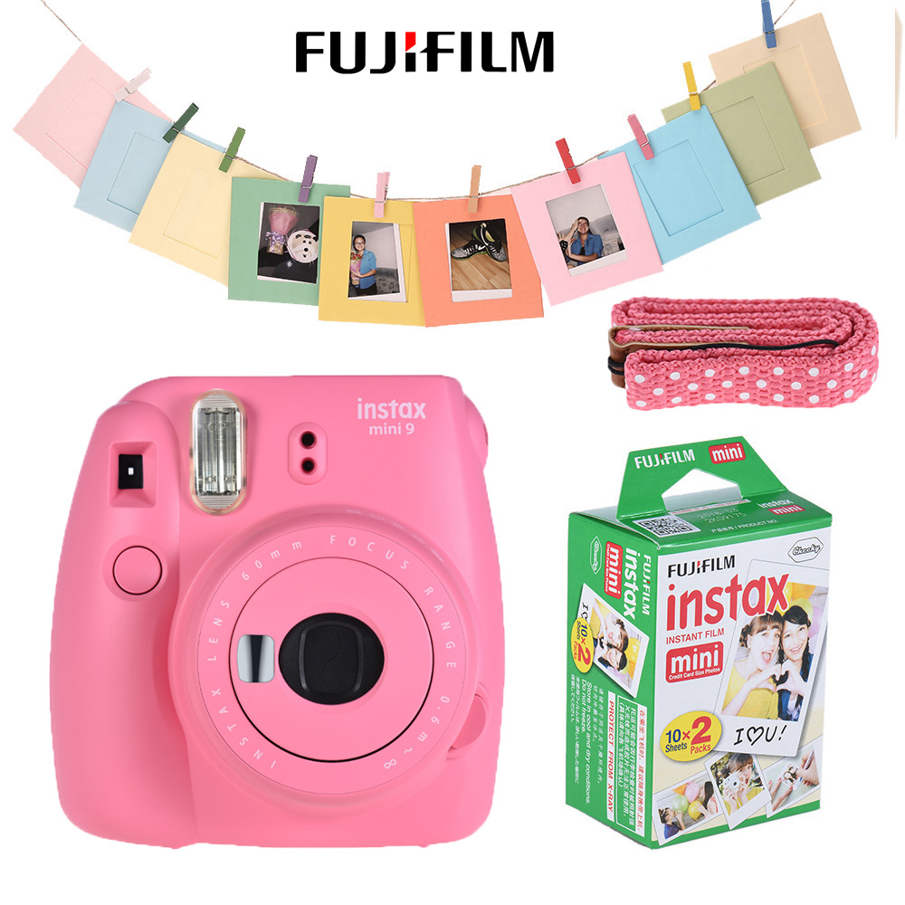 fujifilm instax mini 9 camera kit set film camera photo instant camera with 20 film photo. Black Bedroom Furniture Sets. Home Design Ideas