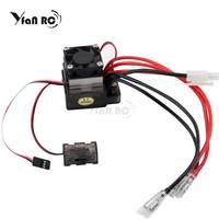 320A Waterproof RC Boat ESC Eletric Speed Controller for RC Crawler Car/Boat Regulator Spare Parts 7.2 16V with Fan Two Motors