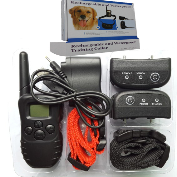 Hi98 For 2 dogs H-i98 100LV Dog Bark Shock Training Collar LCD Remote Vibra Pet Trainer Upgraded from 998DR Anti