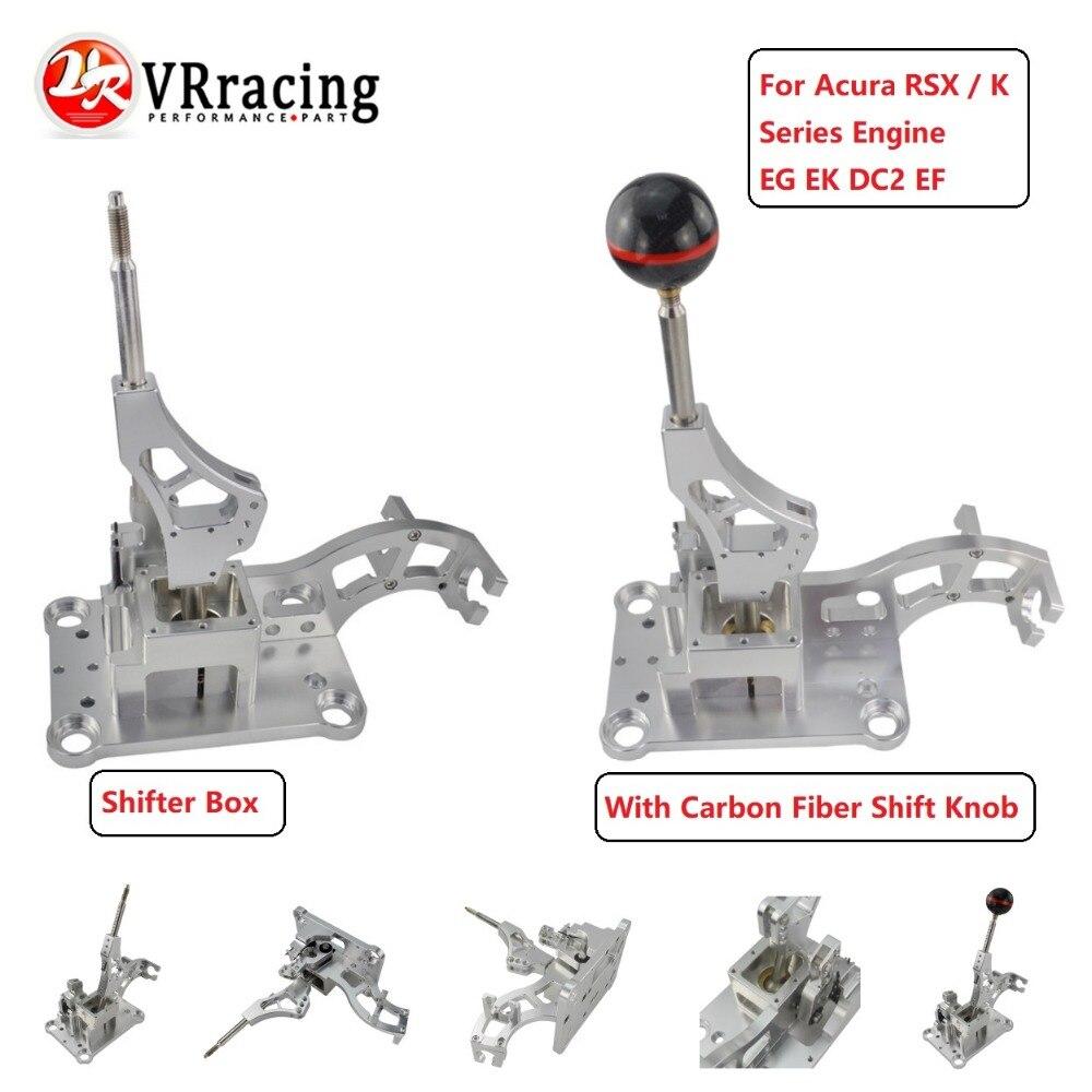VR-Billet Alumínio Shifter Caixa w/ou w/o De Fibra De Carbono Engrenagem Shifter Alavanca de Câmbio Para Acura RSX/K motor da série EF EG EK DC2