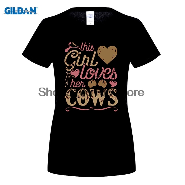 GILDAN Cow Shirt - Cows T Shirt Gift Country Girl Farming Farmer T-Shirts  Short Sleeve Cotton 2017 Summer Funny Sexy Tops Tee 6ce84ee2c57c