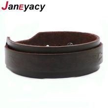 Janeyacy бренд 2018 новый модный коричневый кожаный браслет