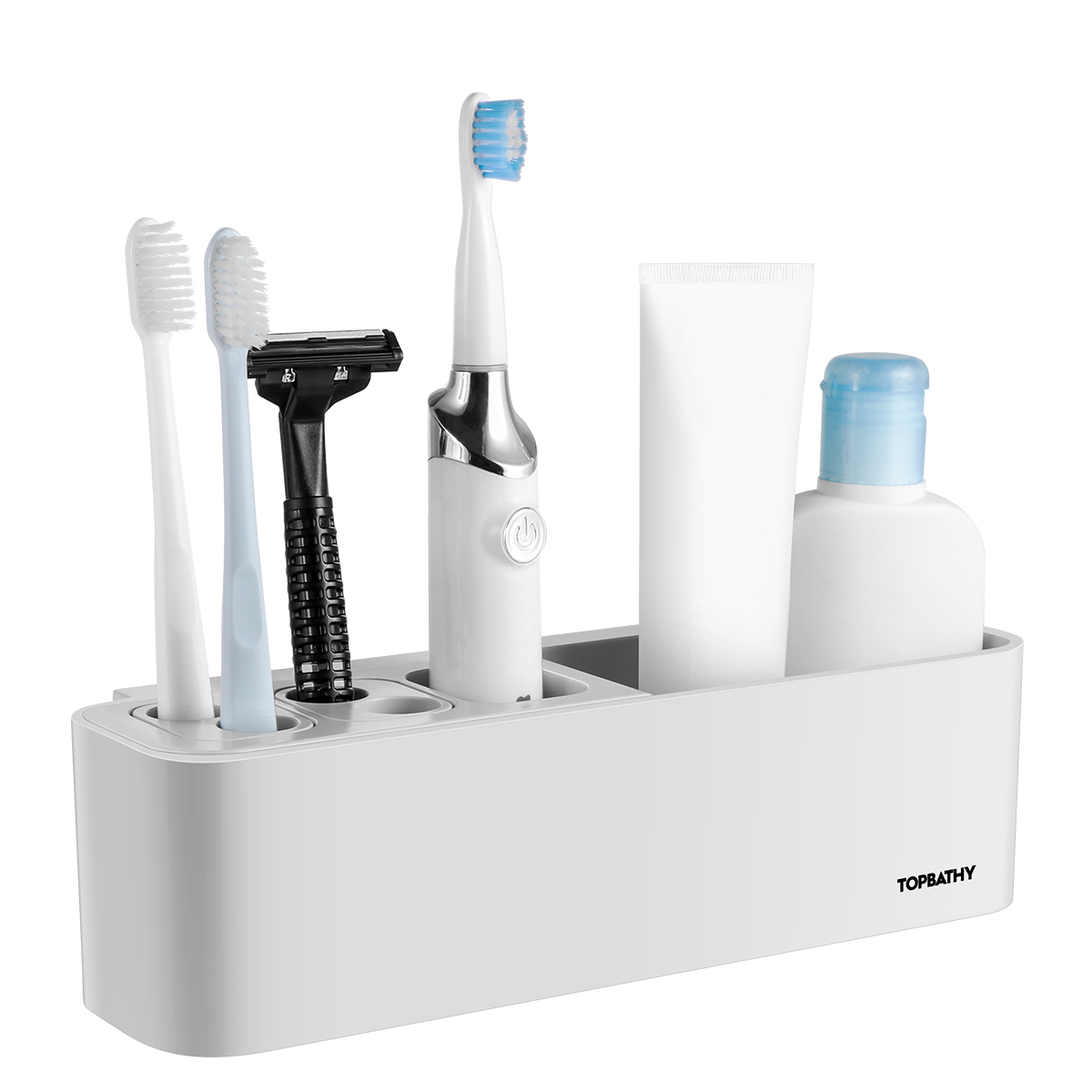 Plastic Toothbrush Holder Tooth Brush Storage Organizer Teeth Brush Head Support White Stander For Bathroom Home