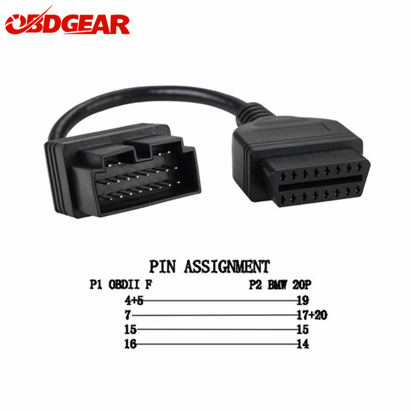 2018 for KIA 20 Pin To 16 Pin OBD2 OBD Diagnostic Tool Car Connector Cable 20 pin for KIA 20pin OBD2 Car Connector Adapter Cable 50cm usb3 0 20pin female to usb 3 0 20 pin male extension cable motherboard mainboard 20pin header adapter cable extender hy1379